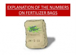 EXPLANATION OF THE NUMBERS ON FERTILIZER BAGS